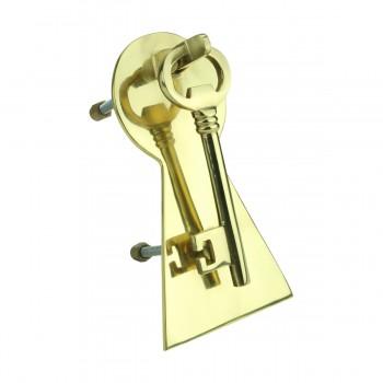 <PRE>Solid Brass Vintage Door Knocker Key Plate 6inch H </PRE>zoom4