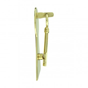<PRE>Solid Brass Vintage Door Knocker Key Plate 6inch H </PRE>zoom5
