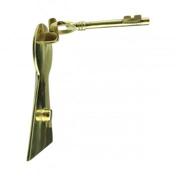 <PRE>Solid Brass Vintage Door Knocker Key Plate 6inch H </PRE>zoom6