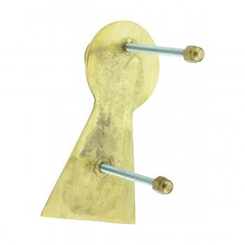 <PRE>Solid Brass Vintage Door Knocker Key Plate 6inch H </PRE>zoom8