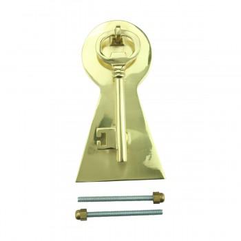 Solid Brass Vintage Door Knocker Key Plate 6