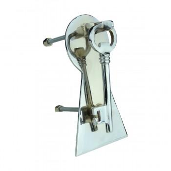 <PRE>Chrome Solid Brass Vintage Door Knocker Key Plate 6inch H </PRE>zoom4