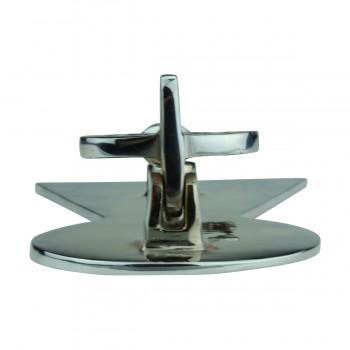 <PRE>Chrome Solid Brass Vintage Door Knocker Key Plate 6inch H </PRE>zoom9