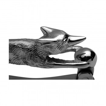 <PRE>Chrome Brass Vintage Door Knocker Wild Running Fox 5.5inchH </PRE>zoom7