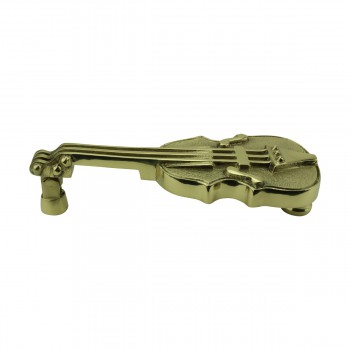 Solid Brass Vintage Door Knocker Violin 6.5H Violin Door Knocker Brass Door Knockers Door Knockers For Front Door
