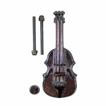 Chrome Solid Brass Vintage Door Knocker Violin 6.5H Violin Door Knocker Chrome Door Knockers Door Knockers For Front Door