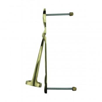 <PRE>Solid Brass Large Door Knocker Stirrup 9.5inchH </PRE>zoom4
