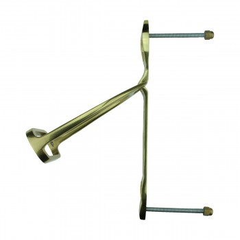 <PRE>Solid Brass Large Door Knocker Stirrup 9.5inchH </PRE>zoom5