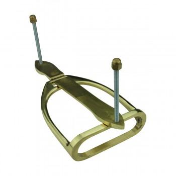 <PRE>Solid Brass Large Door Knocker Stirrup 9.5inchH </PRE>zoom7