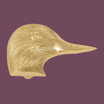 <PRE>Solid Brass Door Knocker Duck Head </PRE>zoom2