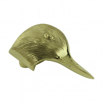 <PRE>Solid Brass Door Knocker Duck Head </PRE>zoom3