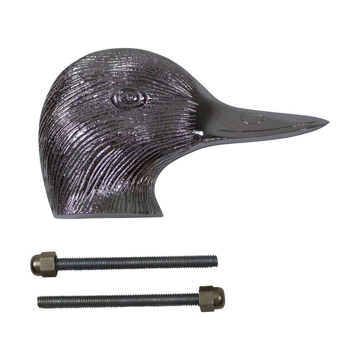Chrome Solid Brass Door Knocker Duck Head Duck Door Knocker Chrome Door Knockers Door Knockers For Front Door