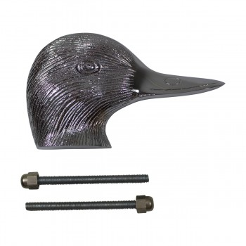 <PRE>Chrome Solid Brass Door Knocker Duck Head </PRE>zoom7