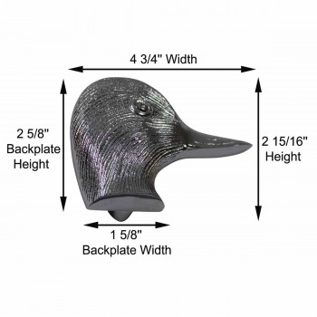 spec-<PRE>Chrome Solid Brass Door Knocker Duck Head </PRE>