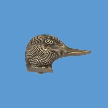 <PRE>Antique Brass Door Knocker Duck Head </PRE>zoom2