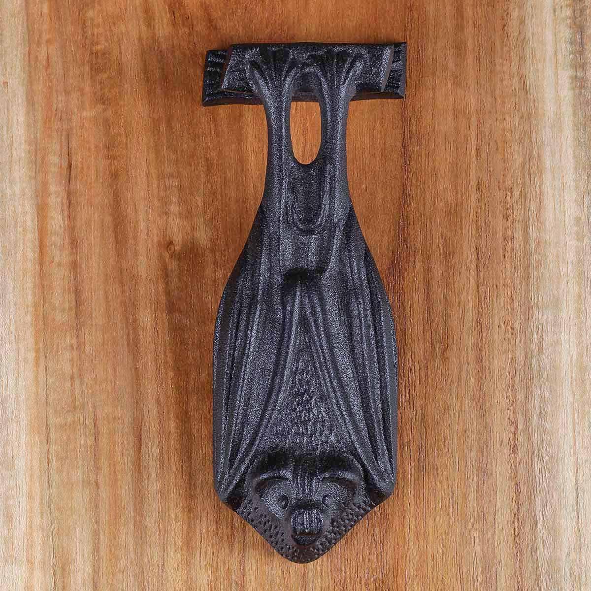 Door Knocker Black Cast Iron Bat 5 H x 2 W Bat Door Knocker Cast Iron Door Knockers Black Door Knockers For Front Door