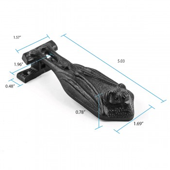 spec-<PRE>Door Knocker Black Cast Iron Bat 5&quot; H x 2&quot; W </PRE>