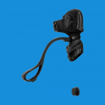 "<PRE>Door Knocker Black Cast Iron Dog 7 5/8inch H x 2 1/2"" W </PRE>zoom2"