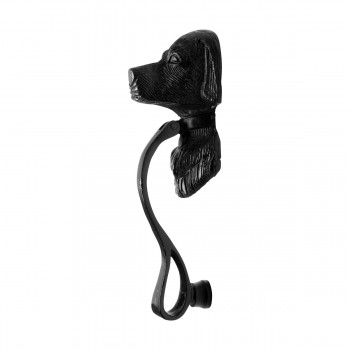 "<PRE>Door Knocker Black Cast Iron Dog 7 5/8inch H x 2 1/2"" W </PRE>zoom7"