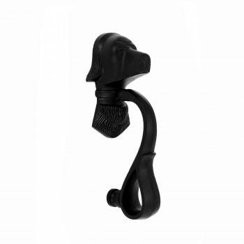 Door Knocker Black Cast Iron Dog 7 5/8