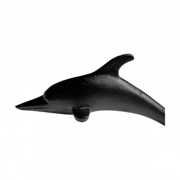<PRE>Door Knocker Black Cast Iron Dolphin 8inch H x 2 1/8&quot; W </PRE>zoom11