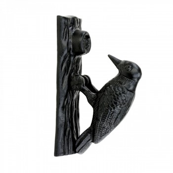 Door Knocker Black Cast Iron Woodpecker 6 12H 2 W