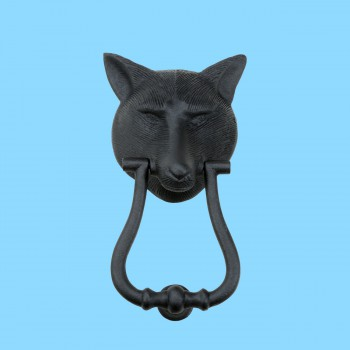 spec-<PRE>Black Door Knockers For Front Door Cast Iron Animal Door Knocker Fox </PRE>
