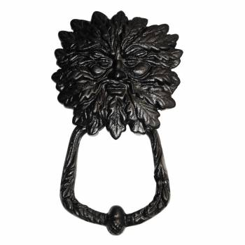 Door Knocker Black Cast Iron Warrior Man 7 3/8