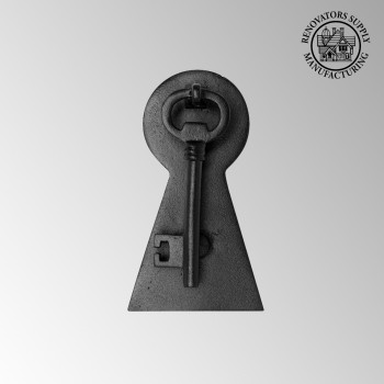 "<PRE>Door Knocker Black Cast Iron Key 6inch H x 3 1/2"" W </PRE>zoom2"