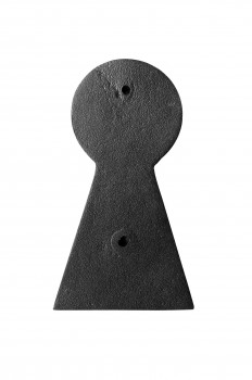 "<PRE>Door Knocker Black Cast Iron Key 6inch H x 3 1/2"" W </PRE>zoom3"