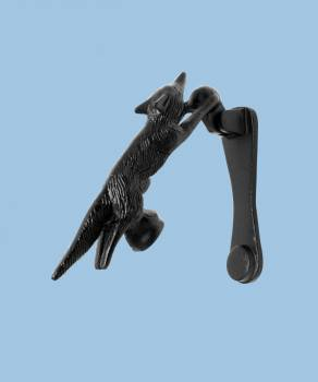 "<PRE>Door Knocker Black Cast Iron Tally-Ho Fox  5 1/2inch H x 1"" W </PRE>zoom2"