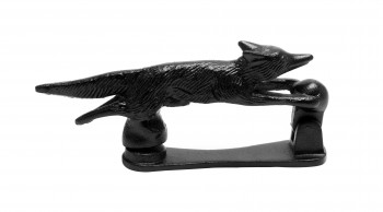 "<PRE>Door Knocker Black Cast Iron Tally-Ho Fox  5 1/2inch H x 1"" W </PRE>zoom5"