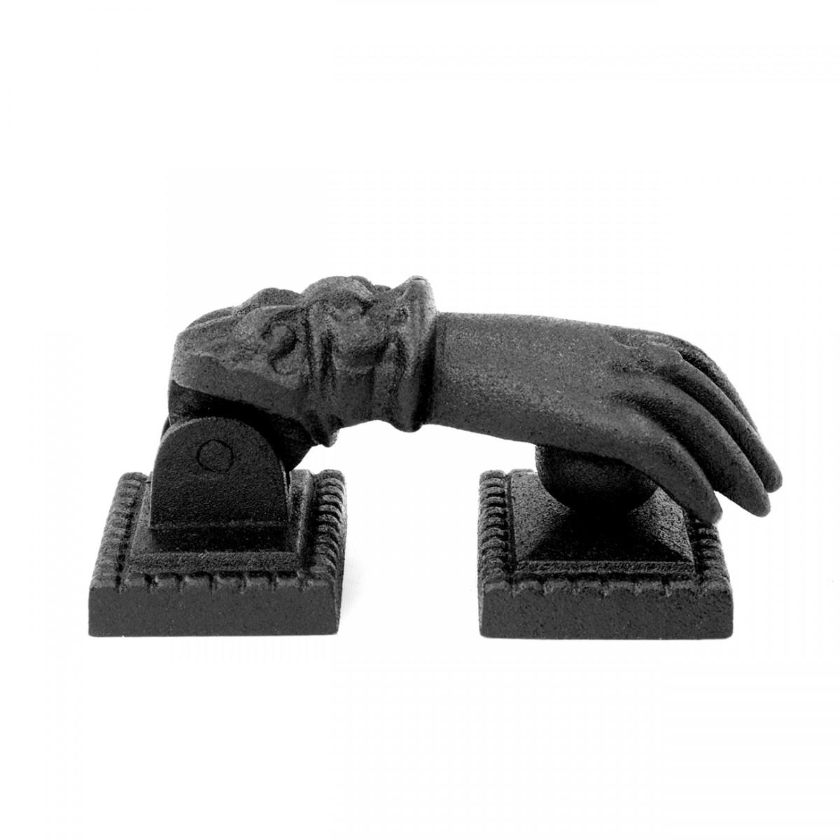 Door Knocker Black Cast Iron Hand 4 H x 1 1516 W Hand Door Knocker Cast Iron Door Knockers Black Door Knockers For Front Door