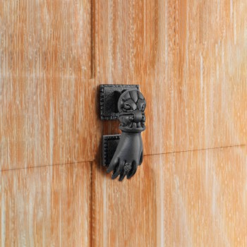 Door Knocker Black Cast Iron Hand 4 H x 1 1516 W