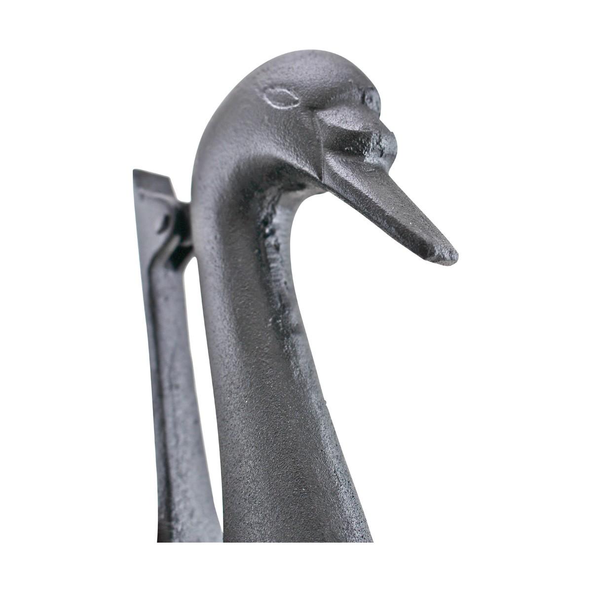 Door Knocker Swan Black Cast Iron 7 H x 3 78 W Iron Door Knocker Black Swan Door Knocker Cast iron Door Knockers