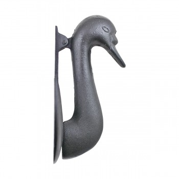"<PRE>Door Knocker Swan Black Cast Iron 7inch H x 3 7/8"" W </PRE>zoom4"