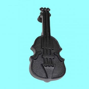 """<PRE>Door Knocker Violin Black Cast Iron 6 1/2inch H x 2 1/2"""" W </PRE>zoom2"""