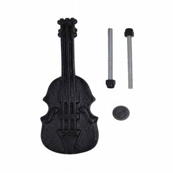 """<PRE>Door Knocker Violin Black Cast Iron 6 1/2inch H x 2 1/2"""" W </PRE>zoom3"""