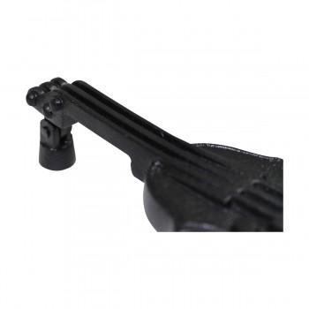 """<PRE>Door Knocker Violin Black Cast Iron 6 1/2inch H x 2 1/2"""" W </PRE>zoom8"""
