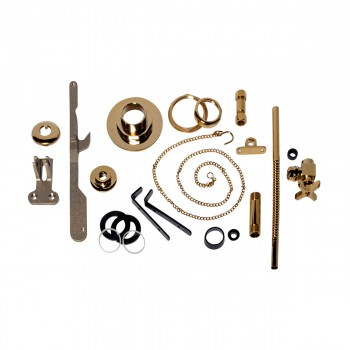 Toilet Part Brass PVD Parts for High Tank Toilets High Tank Toilet Parts Pull Chain Toilet Parts Toilet Repair Parts
