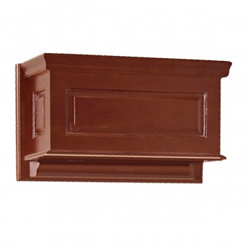 High Tank Toilet Part: TANK ONLY. Dark Oak Raised Panel Tank 17251grid