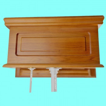 <PRE>Toilet Part Light Oak Raised Panel Replacement Tank  </PRE>zoom2