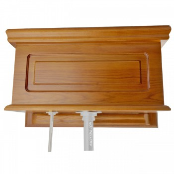 <PRE>Toilet Part Light Oak Raised Panel Replacement Tank  </PRE>zoom1