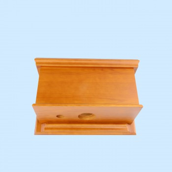 Toilet Part Light Oak Hardwood Flat Panel Tank Only Flat Panel Tank Pull Chain Toilet Tank Oak Toilet Tank