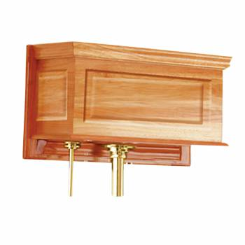 Toilet Part Light Oak Raised Panel Replacement Tank Only 17255grid