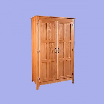 <PRE>Mission Natural Oak Mission Furniture Oak Armoire 68H, 42W, 21 deep</PRE>