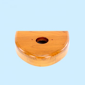 Toilet Parts - Triangle wood piece for Z pipe bowl, light finish by the Renovator's Supply