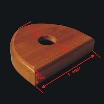 spec-<PRE>Toilet Part Light Oak Hardwood for High Tanks </PRE>