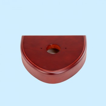 Toilet Parts - Triangle wood piece for Z pipe bowl, cherry finish by the Renovator's Supply