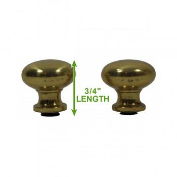 spec-<PRE>Brass Stair Carpet Rod Ball Finial Decorative Tip Pair </PRE>